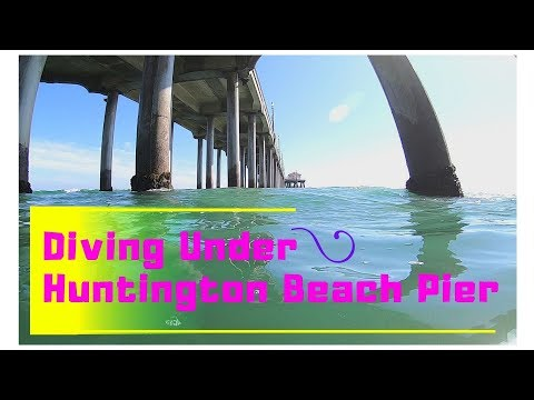 Diving Huntington Beach Pier, Orange County CA (6-28-2019)