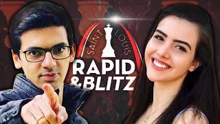 Watching St. Louis Rapid \u0026 Blitz with Alexandra Botez (ft. Sagar Shah!)