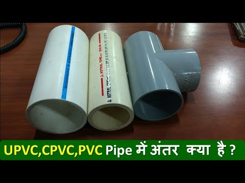 Differences Between PVC, CPVC, UPVC Pipe..