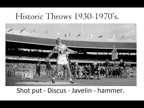 Historic Throws 1930-1970's. Shot put, Discus, Javelin & hammer.