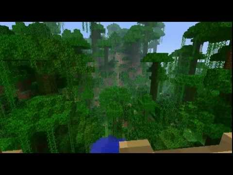 Minecraft jungle tree house youtube for Jungle house music