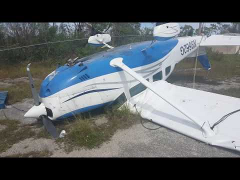 Hurricane Matthew and the Cessna wreck at Fresh Creek,  Andros in the Bahamas.