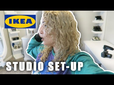 SETTING UP MY NEW STUDIO IKEA LACK SHELF SHOPPING