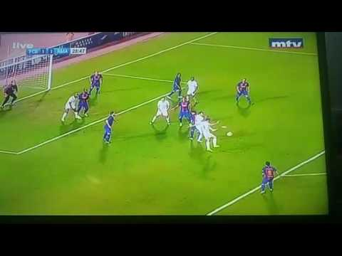 Real Madrid legends goal against Barcelona legends in Beirut sports city stadium