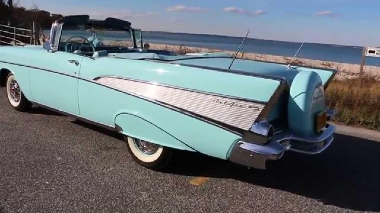 1957 Chevrolet Belair Convertible For Sale~Larkspur Blue~Auto ...