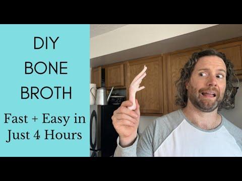 DIY Bone Broth FAST + EASY in just 4 HOURS!