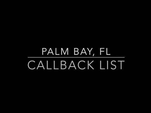 Palm Bay, Flordia- Call Back Video