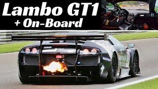 Lamborghini Murcielago 670 R-SV GT1 Action + On-Board at Spa-Francorchamps Circuit - Pure Sound!