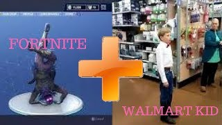 FORTNITE EMOTE DANCES + WALMART YODELING KID!!!!
