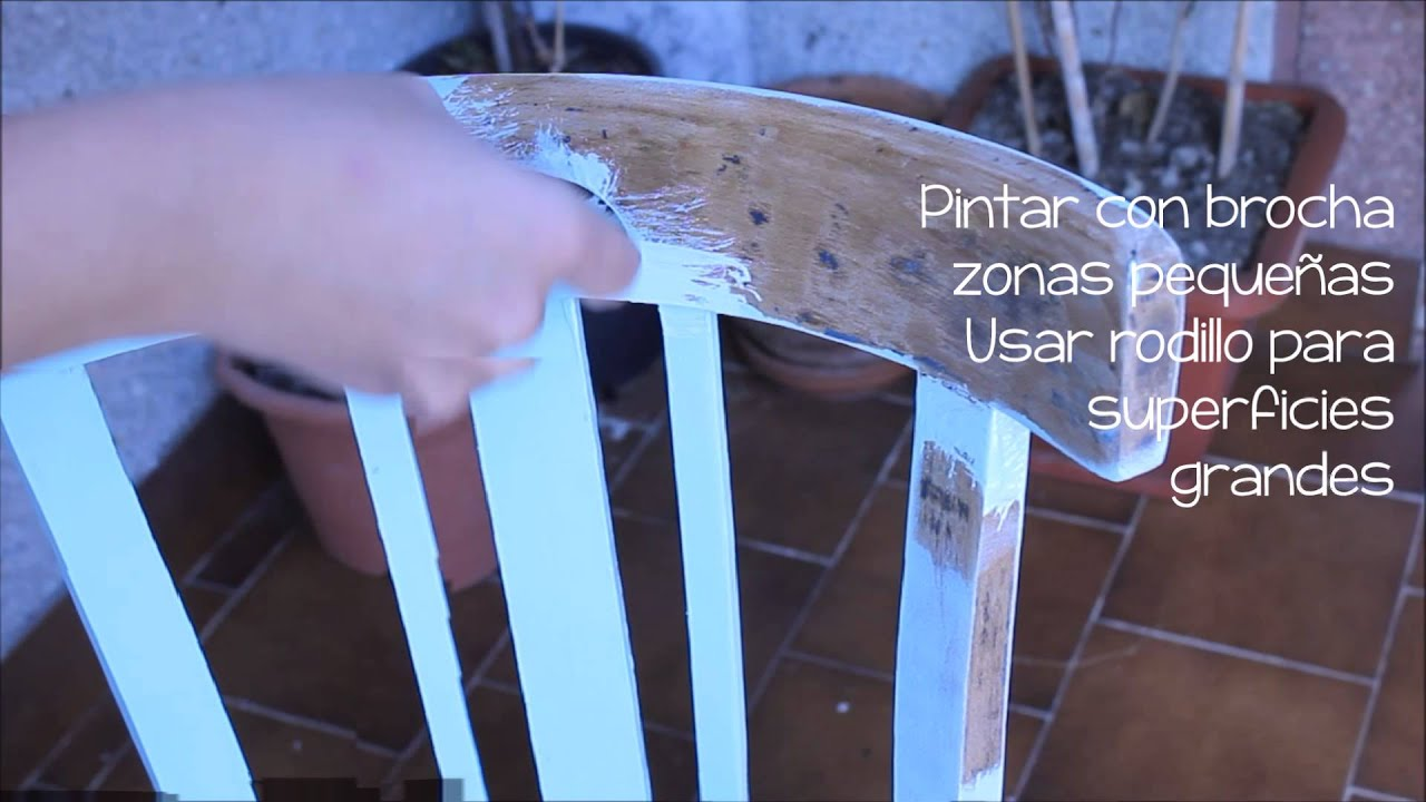 Cmo pintar silla con aspecto blanco envejecido  YouTube