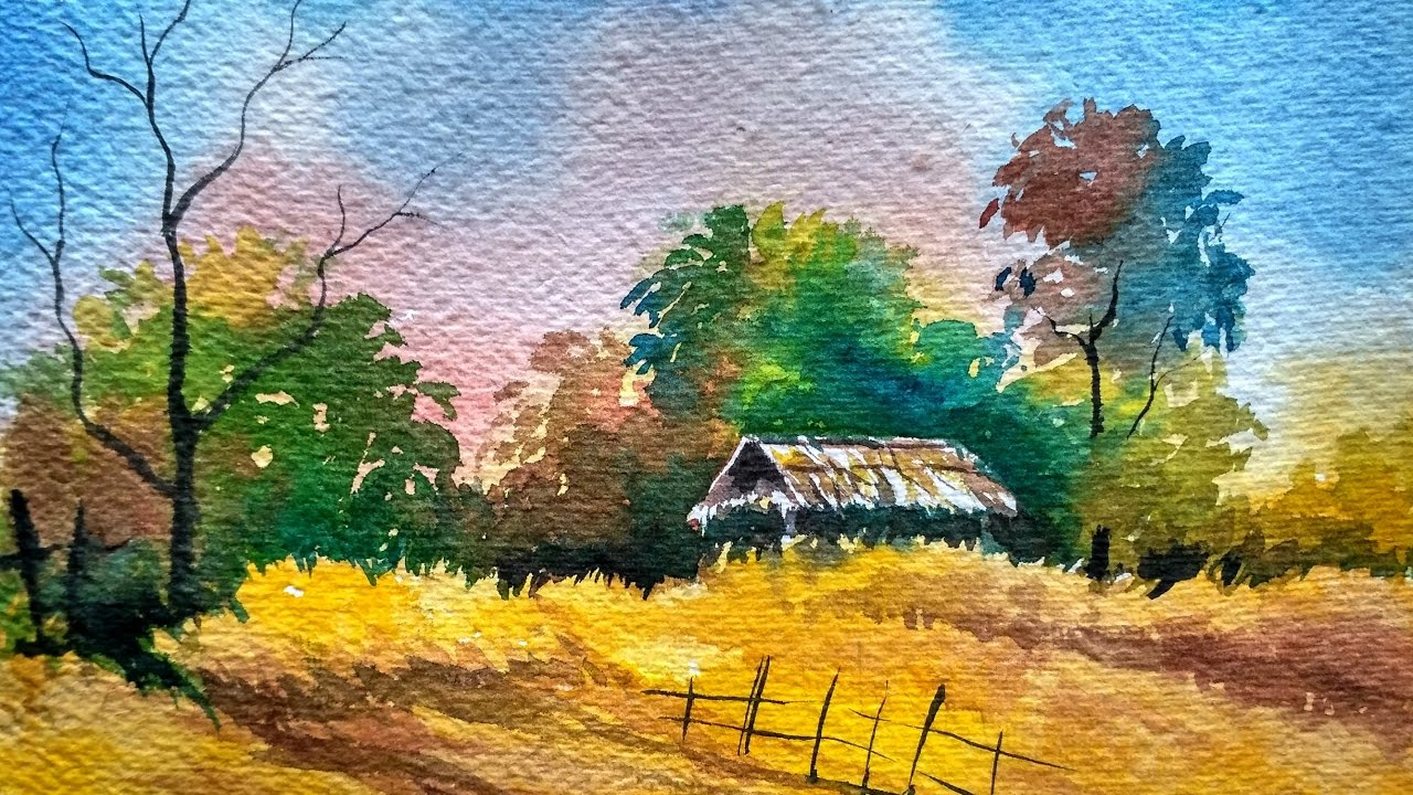 watercolor landscape painting full
