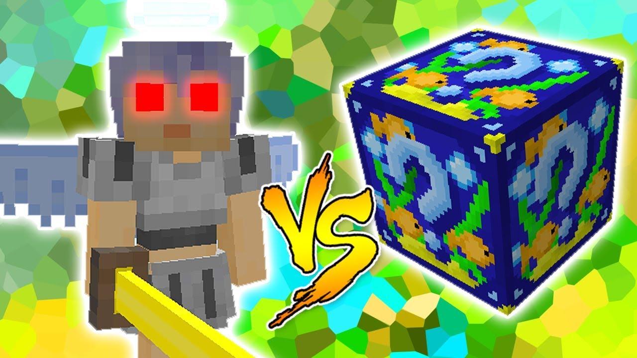Anjo Vs Lucky Block Peixe Minecraft Lucky Block Challenge Youtube