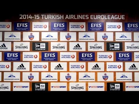 CSKA vs. Anadolu Efes Istanbul: Post game interviews (2015-03-13)