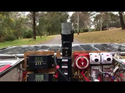 Solar powered land yacht