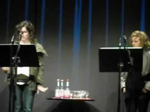Érica Zíngano and Ann Cotten in Poesie Festival Berlin 2012