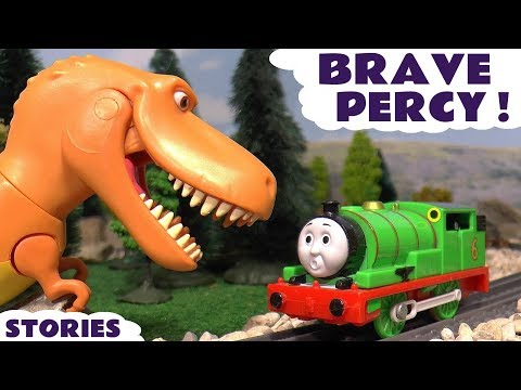 Thomas & Friends Toy Trains Scared Percy & Ramsey The Good Dinosaur Episode by ToyTrains4u