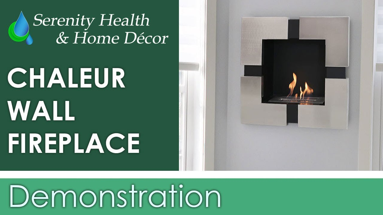 sunnydaze chaleur ventless wall mounted bio ethanol fireplace yl