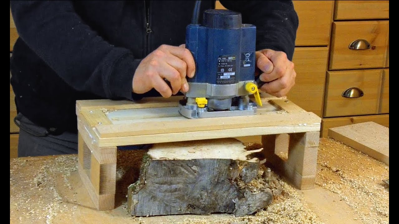 Simple Router Planer Jig Woodworking How To Youtube
