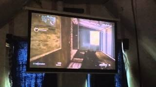 Cod ghost on lg projector
