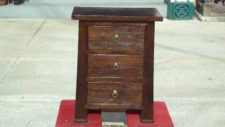 Rustic Three Drawers Nightstand End Table Cabinet Wk1928