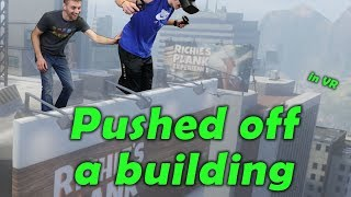 I PUSHED MY NEPHEW OFF A SKYSCRAPER.... in VR - Richie's Plank Experiance