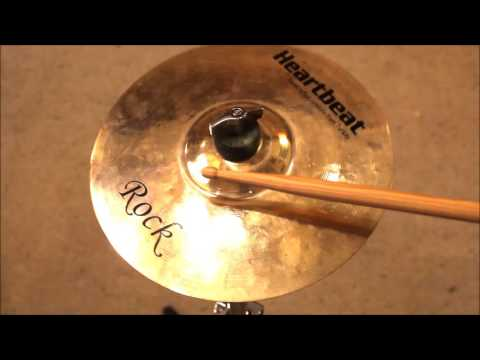 "Heartbeat Cymbals 10"" Rock Splash FOR SALE!!! Sound Demo HQ HD"