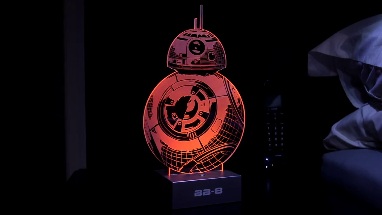 la lampe bb8 star wars projection youtube. Black Bedroom Furniture Sets. Home Design Ideas