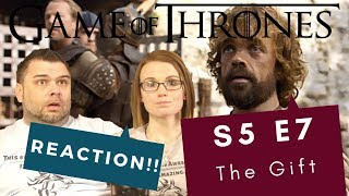 Game Of Thrones | S5 E7 The Gift | Reaction | Review