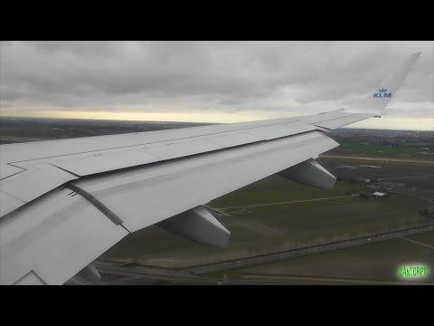KLM Cityhopper Embraer 190 Windy Landing at Amsterdam Schiphol!