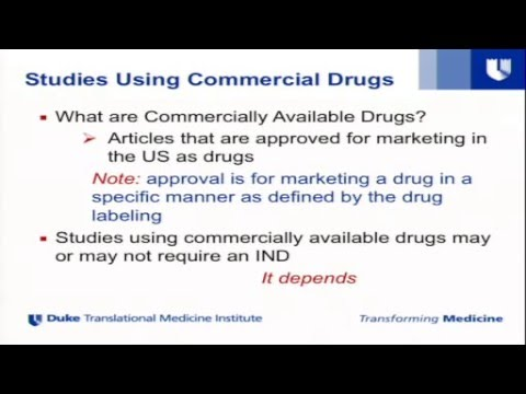2015 Learning about the IND/IDE Process and Reimbursements for New Drugs and Devices