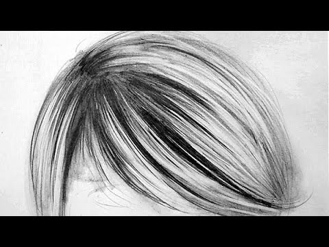 Pencil Portrait Hair Tutorial