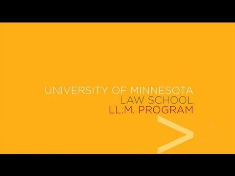 University Of Minnesota Law School LL.M. Program