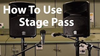 Basic How To: Yamaha Stage PA