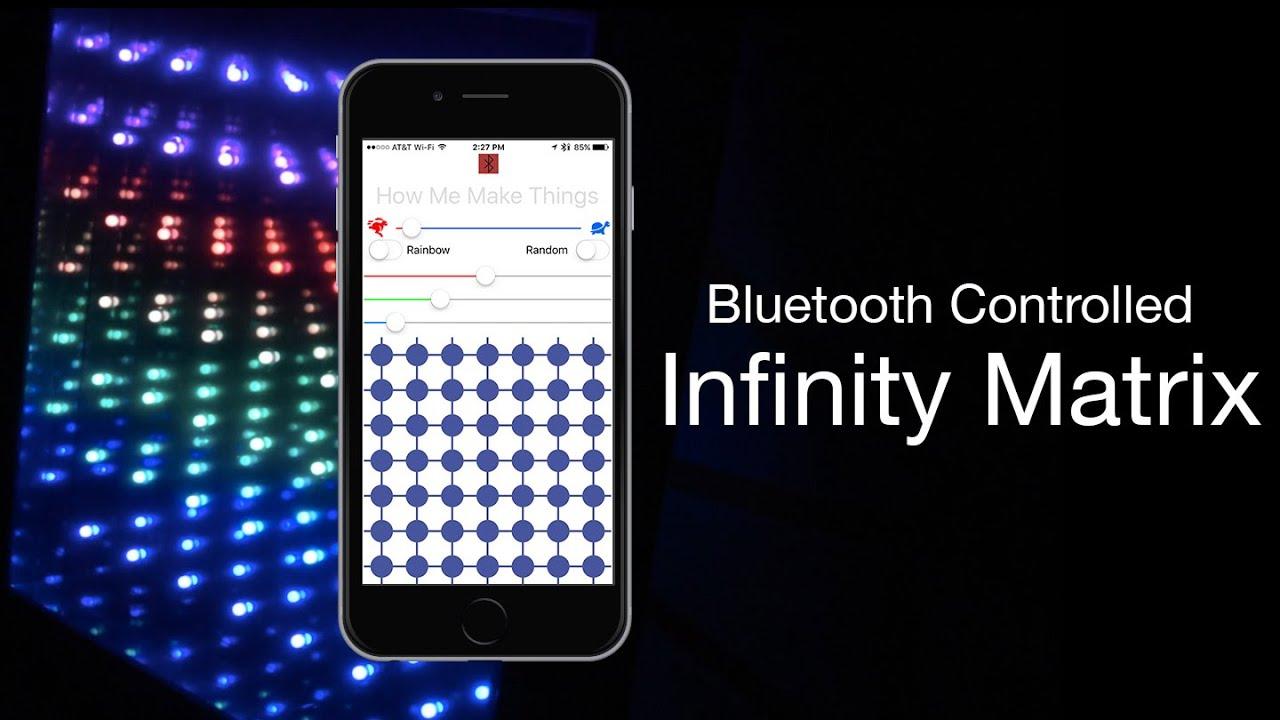 Infinity LED Matrix Mirror - Bluetooth Controlled: DIY