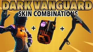 DARK VANGUARD BACKBLING COMBINATIONS! (LEGENDARY SKIN) (FORTNITE BATTLE ROAYLE) (2018)