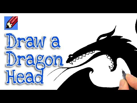 How to Draw a Dragon head Real Easy