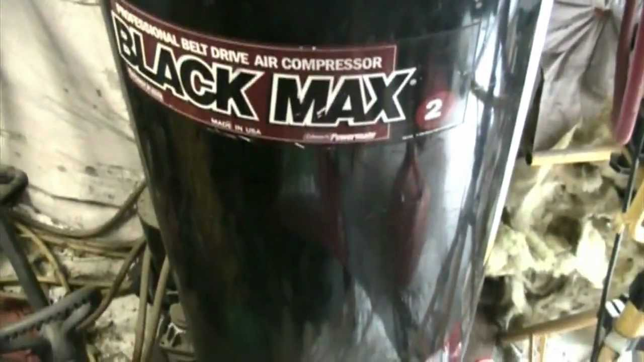 Operation : New Air Compressor PART 1 : RIP 2001 Black Max!  YouTube