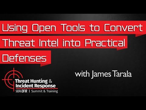 Using Open Tools to Convert Threat Intelligence into Practical Defenses: Threat Hunting Summit 2016