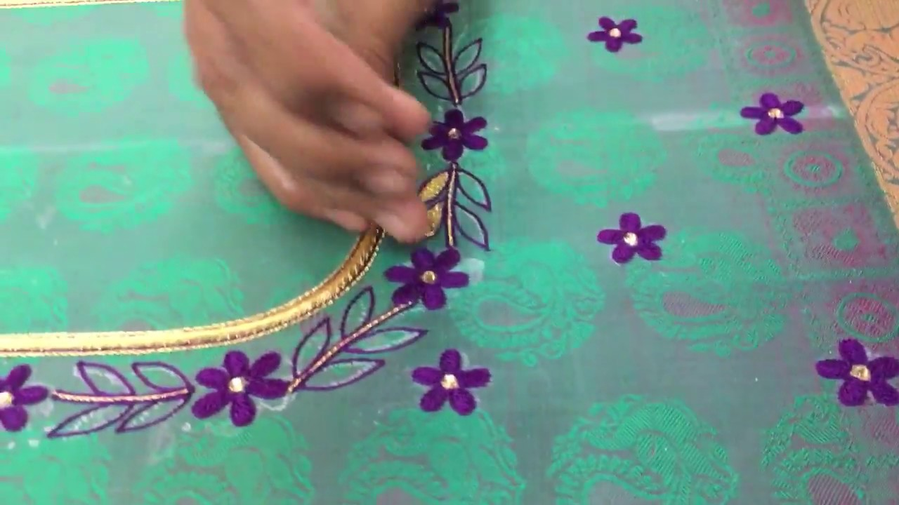 Simple Thread Work Blouse Making Youtube