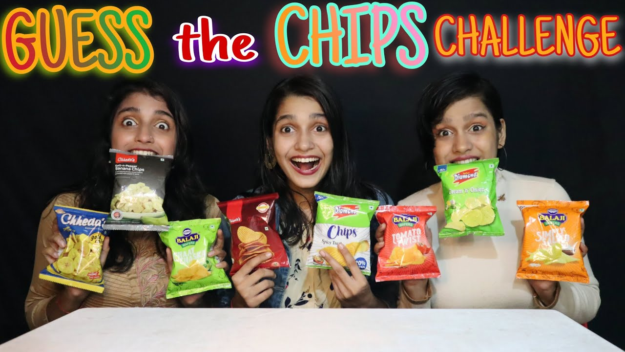 GUESS THE CHIPS CHALLENGE   GUESS THE CHIPS COMPETITION   FOOD CHALLENGE