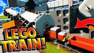 THE CRAZIEST LEGO TRAIN CRASH! - Brick Rigs Gameplay Roleplay