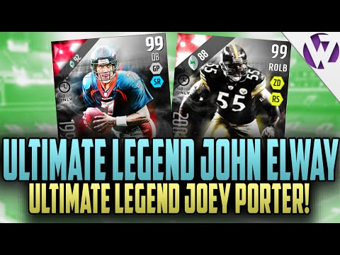 Madden 16 ULTIMATE LEGEND JOHN ELWAY!! & ULTIMATE LEGEND JOEY PORTER!! - MADDEN 16 PACK OPENING