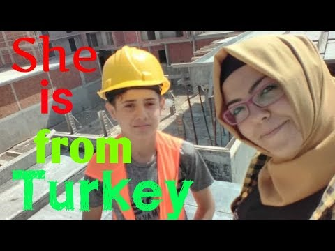 SHE SEND ME HER CONSTRUCTION SITE VIDEO FROM TURKEY || Civil Engineer FBH