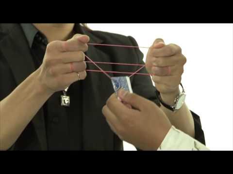 Hướng dẫn ảo thuật   Quân bài nhảy múa trên sợi dây chun   YouTube