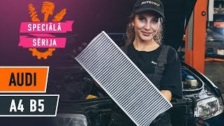 Kā nomainīt Salona filtrs AUDI A4 (8D2, B5) - tiešsaistes bezmaksas video