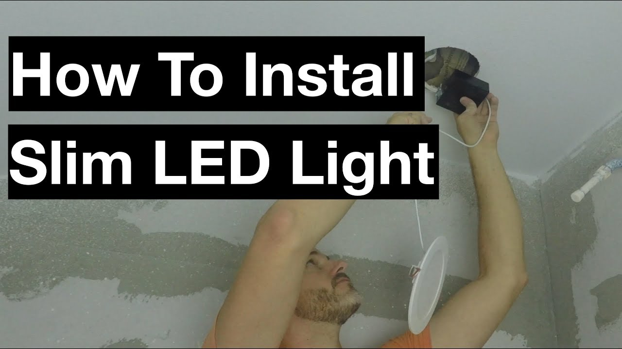 How To Install Globe Ultra Slim Led Recessed Light