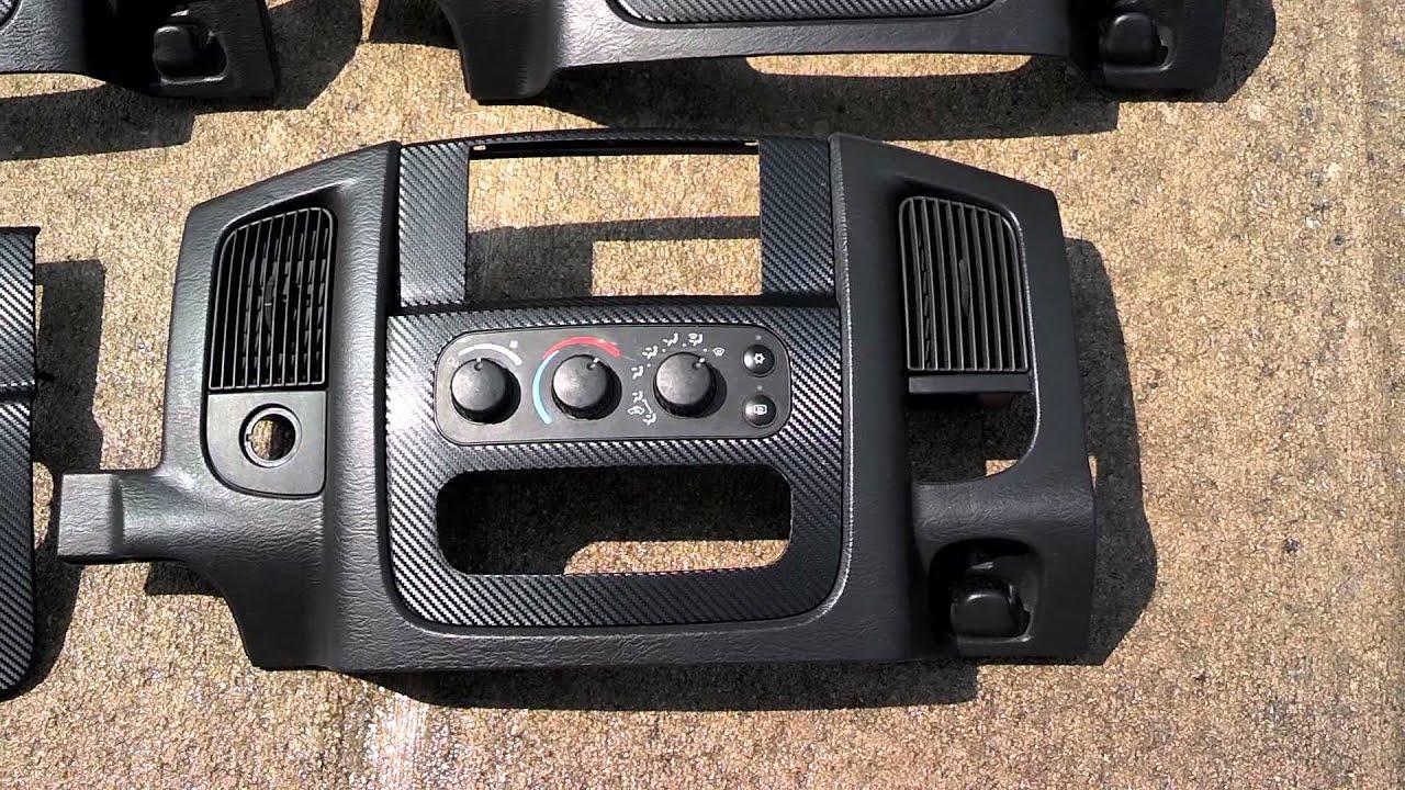 4 Custom Dodge Ram Double Din Bezels Youtube