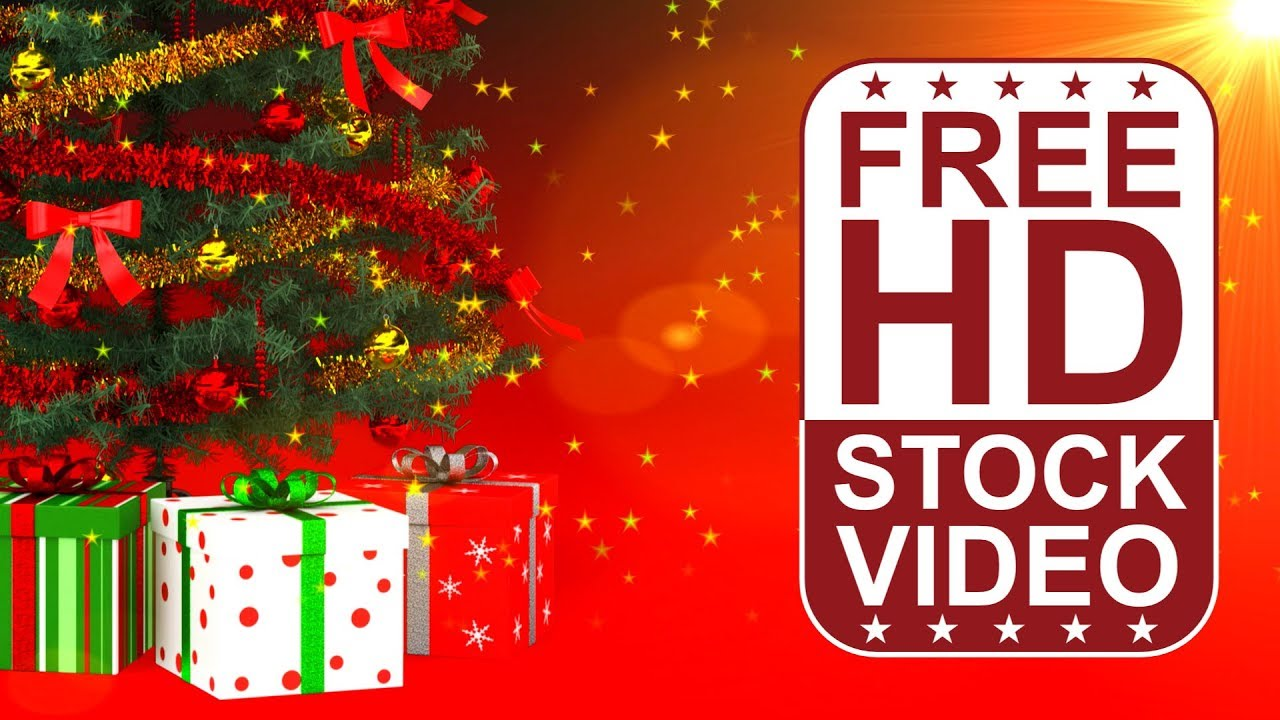 Free Stock Videos Celebrations Christmas Tree With