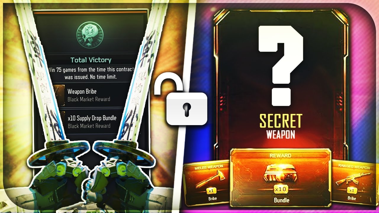 how to get weapon bribes in bo3 2017