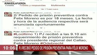 Poder Judicial recibió pedido de prisión preventiva para Félix Moreno